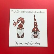 Personalised Handmade Christmas Card - Special Couple - Daughter & Son in Law