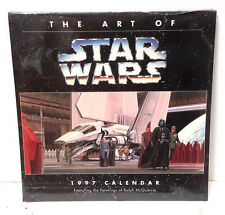"1997 Art of Star Wars Wall Calendar-Ralph McQuarrie Art- 12""x12""  SEALED"