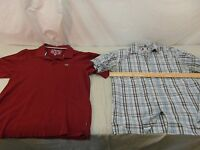 Adult Men's Ecko Unltd. Maroon Polo XL Shirt & Union Bay Plaid XL Shirt 32132