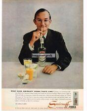 1957 SMIRNOFF Vodka Wally Cox Vtg Ad