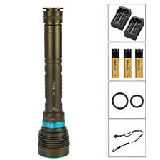 15000Lm 7x XM-L2 LED Diving Scuba Flashlight Torch Waterproof 3x 18650+Charger