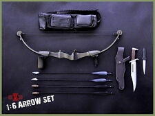 "X-TOYS1:6 Scale Model Toys Bow Arrow Set+Rambo Knife Fit 12"" Action Figure doll"