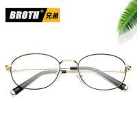Vintage Oval Metal Myopia Eyeglass Frame Computer Glasses Optical Spectacles Rx
