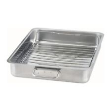 IKEA KONCIS Stainless Steel Roasting Tin Baking Pan Tray 40 x 32cm w/ Grill Rack