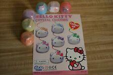 Hello Kitty Coin Capsule and Charm Green Tomy Gacha Keychain Charm Danglers