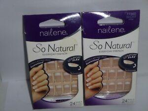 (2 pack)  Nailene So Natural Every Day French Nails - Short Pink - 77360 No Glue