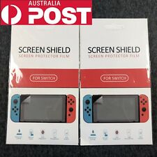 2 Pcs New Clear LCD Screen Protector Film for Nintendo Switch Console