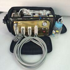 Portable Dental Unit Backpack with Compressor + 3Way Syringe + Suction + Tube 4H