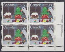 CANADA #1069 68¢ Santa Claus Parade LR Inscription Block MNH