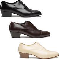 Club Cubano CORDOBA Mens Soft Leather Formal Lace Up Cuban Heel Oxford Shoes