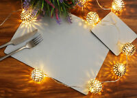 Set of 4 Elementary Grey Leatherboard Placemats and 4 Coasters - Made in UK