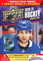 2020/21 Upper Deck Series 2 Hockey HUGE Factory Sealed Blaster Box-YOUNG GUN RC