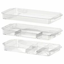 IKEA GODMORGON Make Up Organiser - Stackable Storage Box *Set Of 3* - 401.649.47