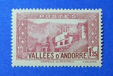 1933 ANDORRA FRENCH 1F25c SCOTT# 52 MICHEL # 40 UNUSED                   CS26379