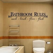 """Home Art Wall Quote Stickers """"bathroom Rules"""" Decoration Decals 2018 Fashion"""