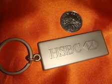 HSBC Pewter Metal Keychain, Scarce Collectible