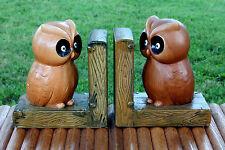 Vintage Pair Lefton Owl Bird Figurine Bookends Hand Painted Ceramics Japan Lqqk!