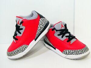 Nike Air Jordan Retro 3 III Sz 9c SE Fire Red Unite Cement Infant Toddler TD