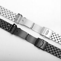 Metal Bracelet Wrist Watch Band 20/22/24mm Stainless Steel Strap Straight
