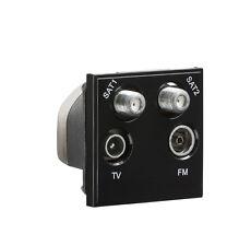 Knightsbridge Negro Modular quadplexed Sat1/Sat2/TV/FM DAB Outlet x1