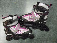 Schwinn Inline Rollerblade Skates~Silver Black & Pink~Youth Size #5~8~Mint