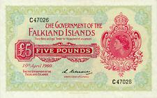 Falkland Islands P-9 5 pounds 1960 AU