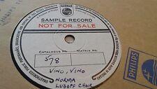 NORMA LUBOFF CHOIR VINO VINO PHILIPS SAMPLE RECORD PB578