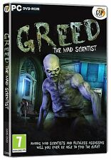 Greed The Mad Scientist (Pc DVD) Neuf Scellé Jeu D'Objets Cachés Puzzle