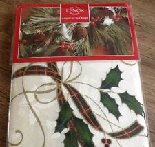 NEW 🎄 LENOX 60 X 140 inch Oblong Christmas Holiday Nouveau Fabric Tablecloth