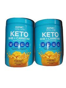 GNC Total Lean Me to Bhb & Carnitine. (2) 30 serv Ea Orange Mango