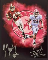 Tua Tagovailoa / Jeudy Autographed Signed 8x10 Photo ( Crimson Tide ) REPRINT