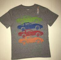 Gymboree Boys T-shirt Cars Size 7-8 Gray