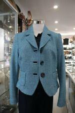 Anna Thomas Blazer Cotton Matelot Jacket Aquamarine Color-Sz12-New W Tag-RRP$798