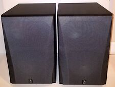 (Pair) Yamaha NS-6490 3-Way Bookshelf Speakers, Black Finish