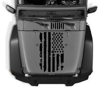 Distressed USA flag Hood vinyl sticker decal - Diecut Fits Jeep wrangler 23sL