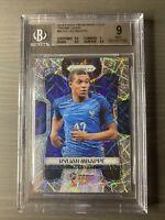 2018 Panini Prizm World Cup Soccer Kylian Mbappe Lazer Prizm France BGS 9 Mint!