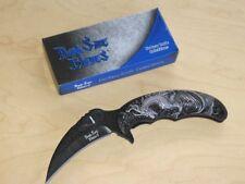 Dark Side blades Hawk Style con Silver Dragon motivo assisted opening nuevo/en el embalaje original