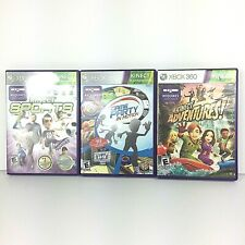 Xbox 360 Kinect Games Lot of 3 Adventures, Sports, Game Party in Motion