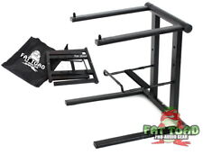 Folding DJ Laptop Stand – Computer Table Top PC Rack Clamp Mount Holder PA Gear