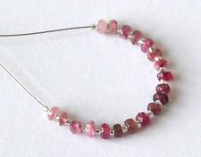 PINK TOURMALINE BEADS FACETED RONDELLE 3 MM NATURAL GEMSTONE- 19 PCS @1335