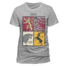 Official Game Of Thrones Split Art Houses T Shirt Sigils Stark Lannister HBO