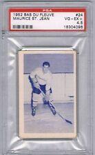 1952 Bas Du Fleuve Hockey Card Rivière-du-Loup #24 M. St-Jean Graded PSA 4.5