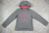 Youth Girl's Nike Heather Gray Pink Hoodie Size Small
