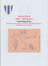 Leyton Orient 1965-66 & Rochdale Rugby League 1965 Autograhed Book Page 19X Sigs
