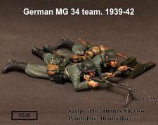 1/35 Scale WW2 German machine gunner MG 34 team.1939-42
