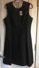 Kate Spade Emma Dress All That Glitters Solid Black Size 14 Silk Cotton Blend