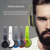 Wireless Bluetooth 5.0 Headphones Over Ear HiFi Stereo Earphone Noise Cancelling