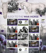More details for isle of man iom military & war stamps 2020 mnh wwi ww1 elegy to warhorse 8v m/s