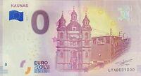 BILLET 0  EURO KAUNAS LITUANIE 2018  NUMERO 5000 DERNIER BILLET