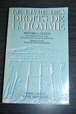Le livre des droits de l'homme - Histoire et texte